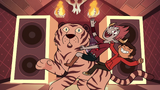 S2E19 Tom and Marco riding a tiger