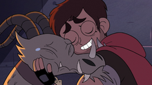 S2E31 Adult Marco hugging Nachos the dragoncycle