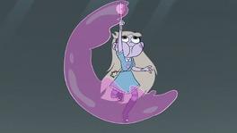 Star empieza a crear su burbuja con aire magico rosada