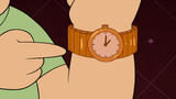 S2E19 Brian pointing at his watch