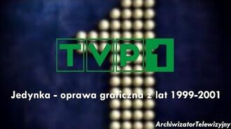 (TVP 1) Program Pierwszy - oprawa graficzna z lat 1999-2001