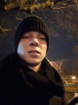 Ja w Raszynie zimowym popołudniem.