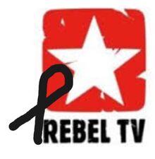RebelTV - żałobne logo