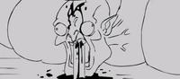 Animatic heckler death