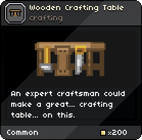 WoodenCraftingTable Infobox