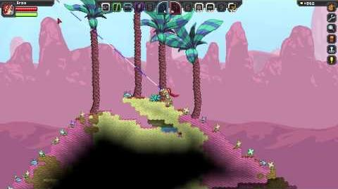Starbound Grappling hook tests!