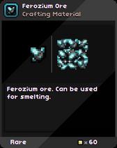Ferozium Ore Infobox