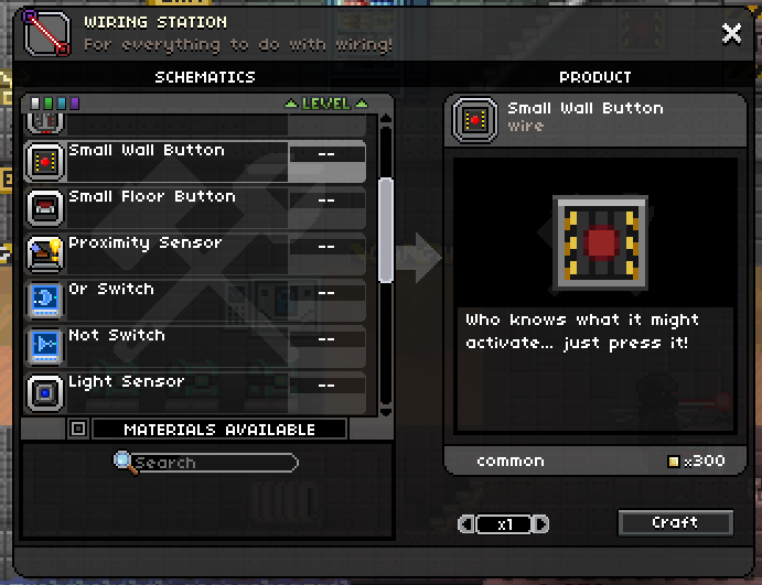 small wall button starbound wiki fandom powered by wikia rh starbound wikia com starbound wiring table Wiring Electrical Wire Size Chart