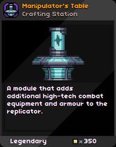 Manipulator's Table Infobox