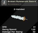 Broken Runewrath Sword