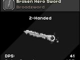 Broken Hero Sword