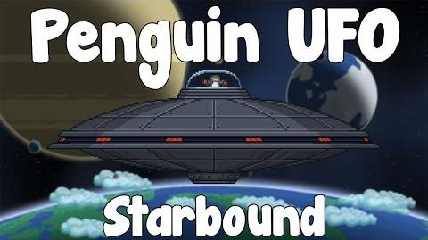 Penguin UFO & Distress Beacon - Starbound Guide , First Boss! - BETA
