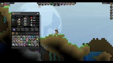 Starbound showcasing the Morphball for the wiki.
