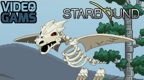 Starbound - Fighting the Bone Dragon King Boss