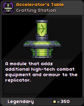 Accelerator's Table Infobox