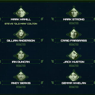 Current Cast of Squadron 42|Excerpt from the cast (2013)