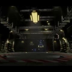 Basic hangar (concept art)