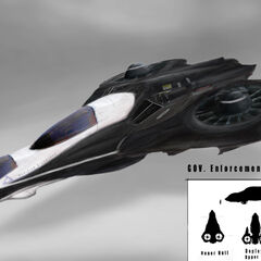 Government Enforcement Vehicle concept art by Patrick O'Brien