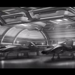Business hangar (concept art)