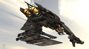 Enemy fighter - underside