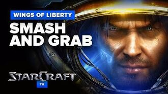 StarCraft 2- Wings of Liberty - Mission 4 - Smash and Grab Walkthrough - Hard Difficulty