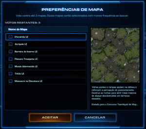 Modo Contra Lista Rotação de Mapas