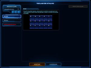 Menu Opções do Jogo SCII Teclas de Atalho01