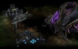 Lewiatan i Hyperion przy Stacji Atlas