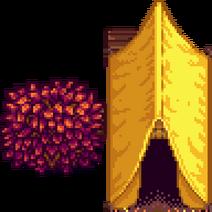 Палатка осень