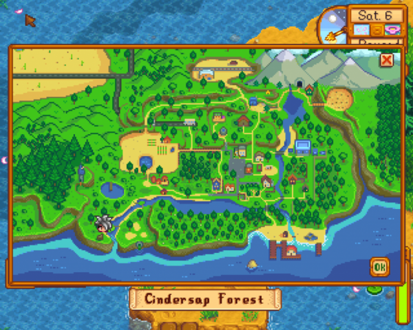 Image  Optimal Fishing Location  Forest River mapPNG  Stardew