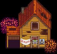 Разрушенный дом осень
