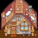 Рыбацкий магазин зима
