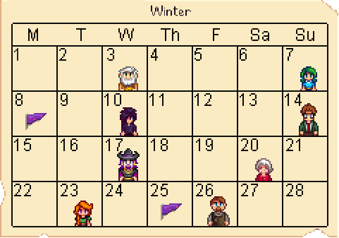 Calendar Winter