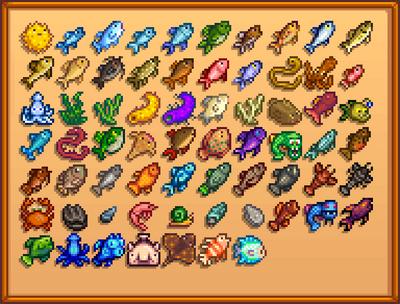 Коллекция рыбы