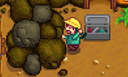 Заблокированный вход в шахту