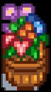 Цветочный бочонок