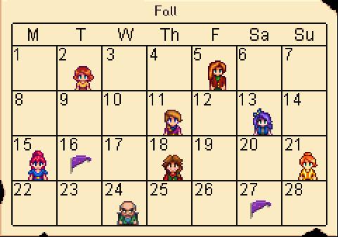 Calendar Fall