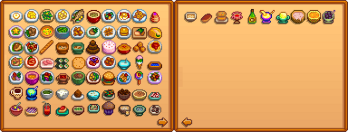 Приготовленные блюда