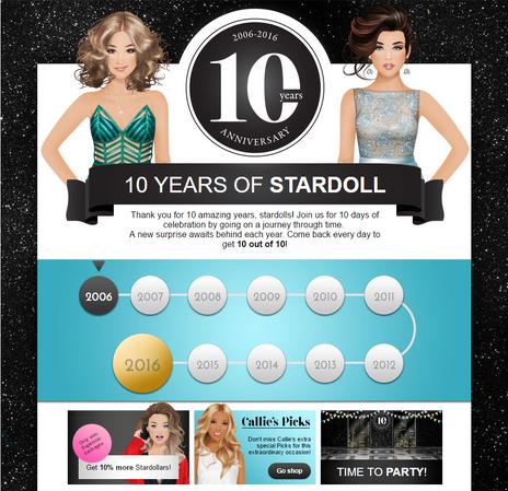 10 yrs of stardoll
