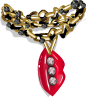 Hot Buys Bling Lips Necklace