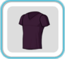 DarkVioletV-neckTshirt