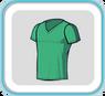 GreenV-neckTshirt