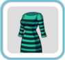 GreenStripeDress7700