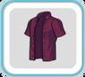 DarkScarletUnbuttonedShirt