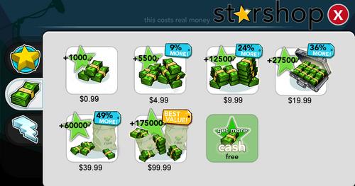 Starshop Cash