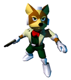 Brawl Sticker Fox (Star Fox 64)