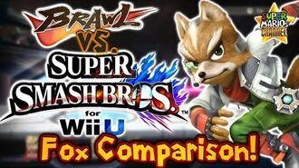 SMC Brawl vs. Smash Bros. Wii U - Fox Moveset & Model Comparison!