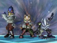 SSBB Fox Falco and Wolf