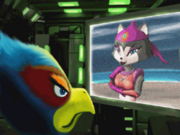 Falco gets a message from Katt