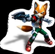 Brawl Sticker Fox (Star Fox Assault)